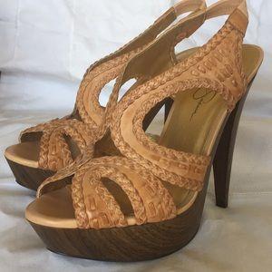 Jessica Simpson platform heels.